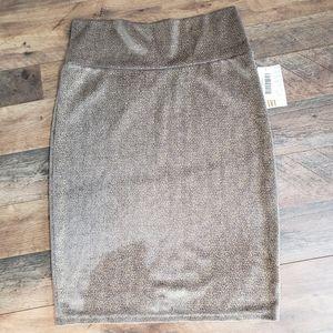 NWT Lularoe Cassie Metallic Pencil Skirt